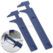 New Plastic Ruler Sliding Gauge Vernier Caliper Jewelry Measuring Inch Cm 8cm/10cm(China)