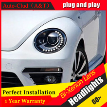 Auto Clud For VW Beetle headlights 2013 15 for VW Beetle LED DRL light bar xenon