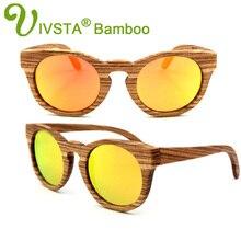 Ivsta ручной работы деревянный Солнцезащитные очки для женщин Для женщин поляризационные Очки Зебра древесины Солнцезащитные очки для женщин Polaroid Лето природа кошачий глаз Солнцезащитные очки для женщин VW1225