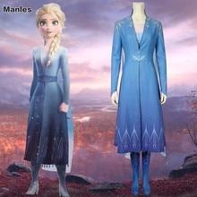 Queen Elsa Costume Snow Ice Princess Cosplay Adult Froz Halloween Carnival Party Dress Disfraz Fancy Skirt Shoes Belt Cartoon