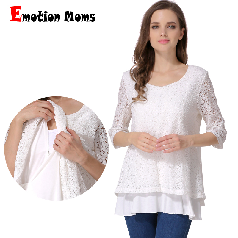 Emotion Moms Fashion Maternity Clothes Breastfeeding T shirt Nursing Clothing for Pregnant Women Nursing tops False 2 Pcs in Tees from Mother Kids