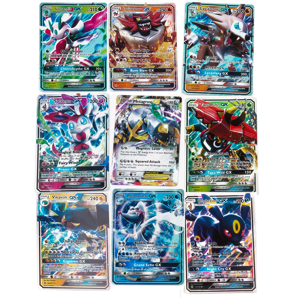 200 Pcs GX MEGA Shining Cards Game Battle Carte 100pcs Trading Cards Game Children Toy