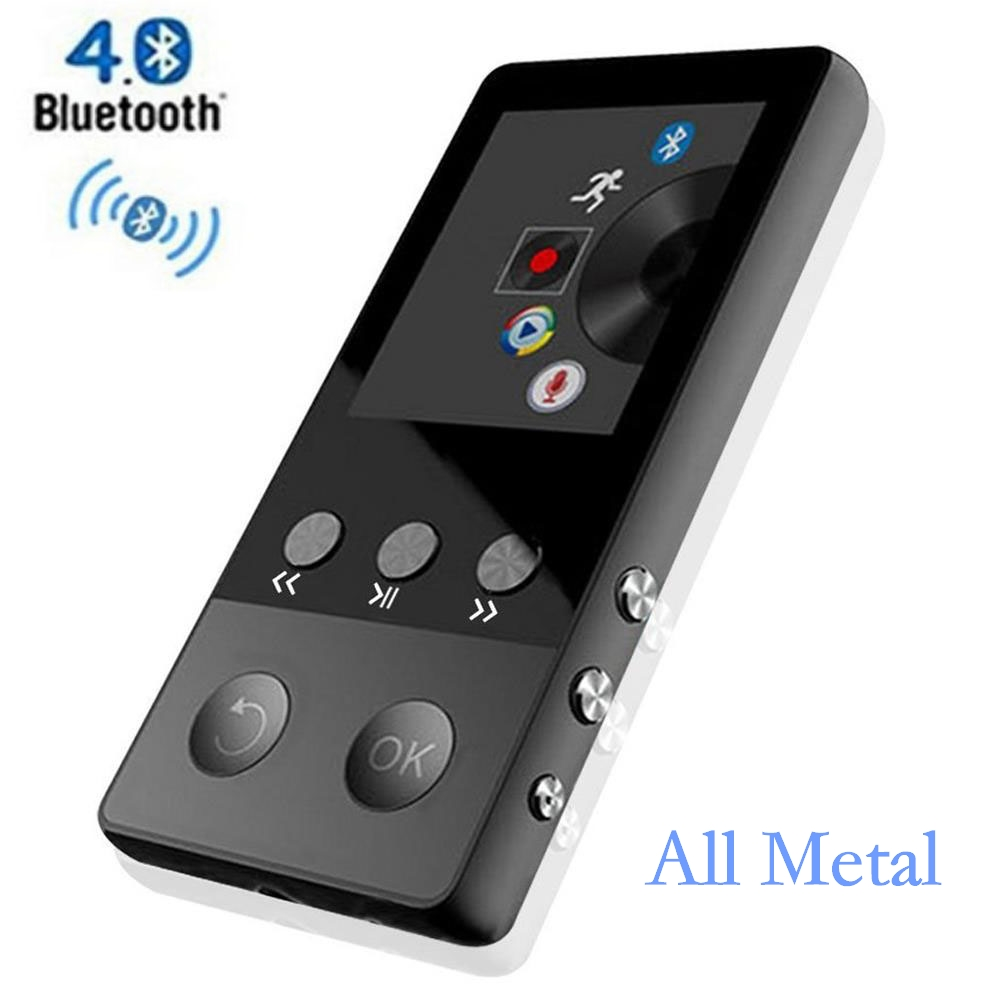 HiFi Metal MP4 Player with Bluetooth 8GB 2.0 Inch Screen Play 80 hours can Support 64GB SD Card with FM Radio Voice Recorder цена 2017