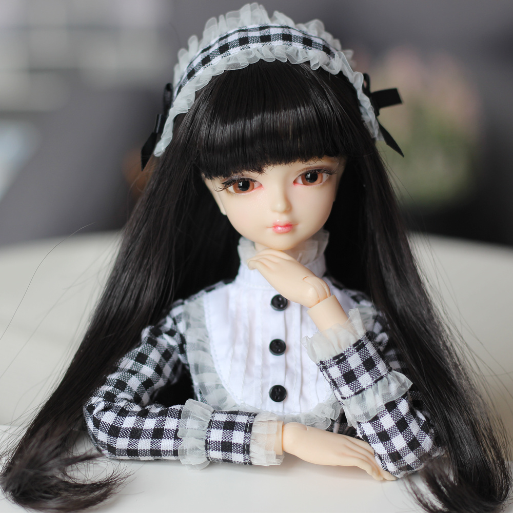 купить Fortune Days 1/4 MMGIRL BJD DOLL joint body with makeup reborn girls eye black plaid princess dress 45CM height Blyth dolls toys по цене 7044.54 рублей