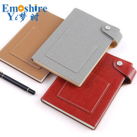 Wholesale Creative Notebook Button Leather Pocket Custom Logo Diary Book Notebook Notepad Leather Note Book Memo Pad N189