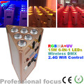 6*15W 6IN1 led par Battery Powered Flat LED PAR Light with Wireless DMX and 2.4G Wifi Control