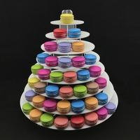 8 Tier Macarons Cupcakes Tower Sweets Display Stand Holder Dessert Rack Wedding Decoration Birthday Party Tableware Ornament