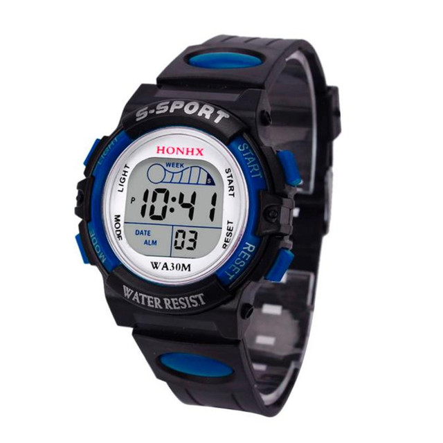 Hot hothot Sales Waterproof Children Boys Digital LED Sports Watch Kids Alarm Date Watch Gift  Free Shipping at3 Dropshipping
