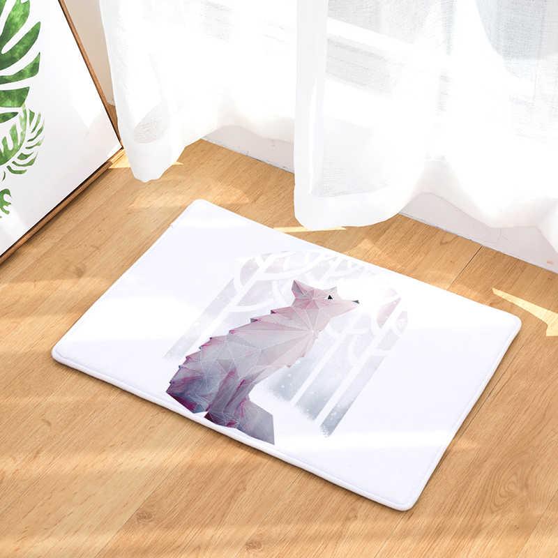 Gato Flanela Tapete Padrão Religioso de Impressão Para Sala de estar Banheiro Tapete 40x60 cm Corredor Retângulo Tapete