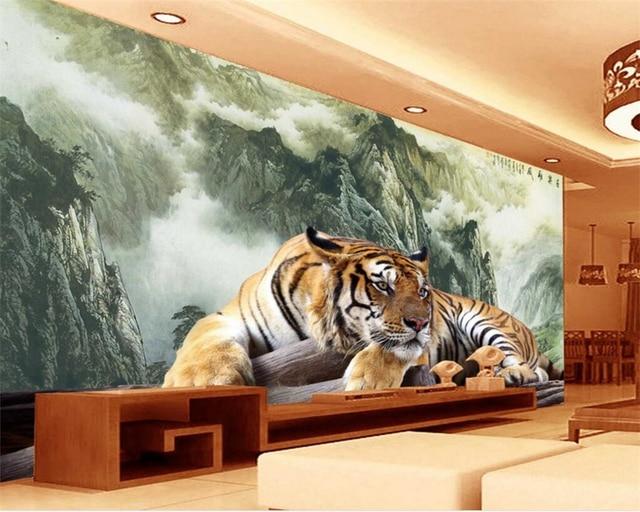Comprar beibehang tigres de tinta paisaje for Papel pintado paisajes