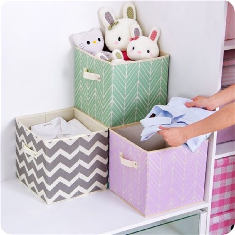 Clothes Storage Box Basket Toys Home Decor Home Organization Children S Cartoon Pattern Non Woven Fabric