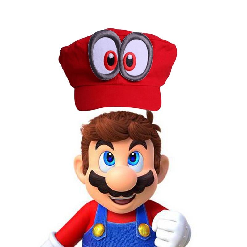 Gioco Super Mario Odyssey Cappello Per Bambini di Età di Cosplay del Anime Fatti A Mano Super Mario Odyssey Metalli distintivo