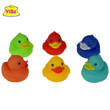 6pcs/lot vinyl Toys Big Mouse Rubber Duck Water-Spray duck for kids Soft bath shower toys for Boys Girls in mesh bag best gift