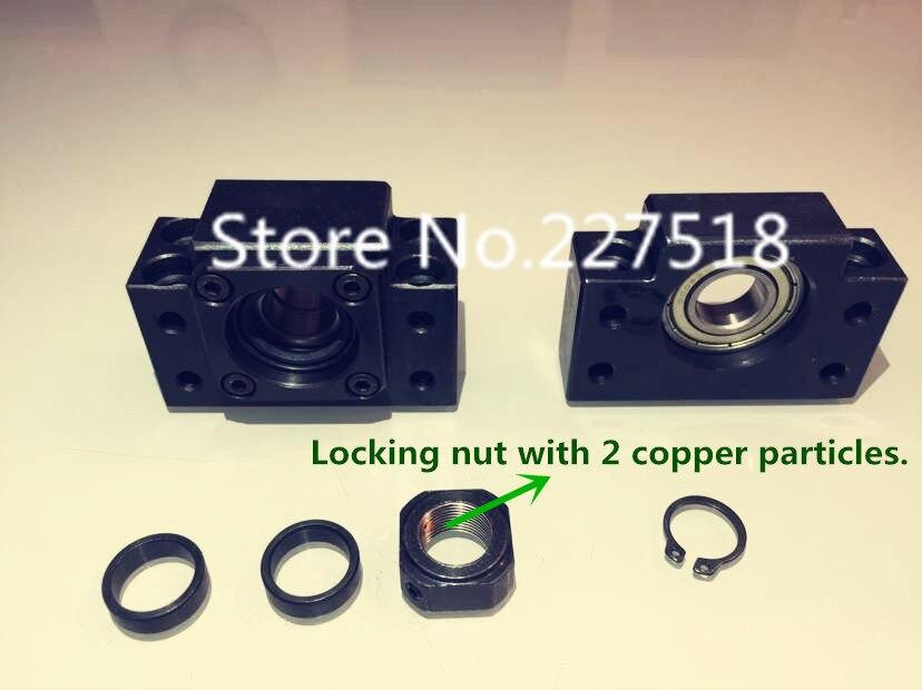 1 set Ballscrew End Supports:1pc BK15+ 1pc BF15 SFU2005 SFU2010 ballscrew End Support CNC Parts for SFU1605 SFU1604 cheap end support unit ek ef12 for sfu1604 sfu1605 sfs1610 sfe1616 ballscrew 1pc ek12 1pc ef12