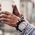 Pulseiras de couro genuíno titanium acessórios masculinos dos homens anchor bracelet & bangle titanium jóia de aço manguito pulseira charme