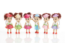 4pcs NEW Kids Toys Soft Interactive Baby Dolls Toy Mini Doll For girls and boys free