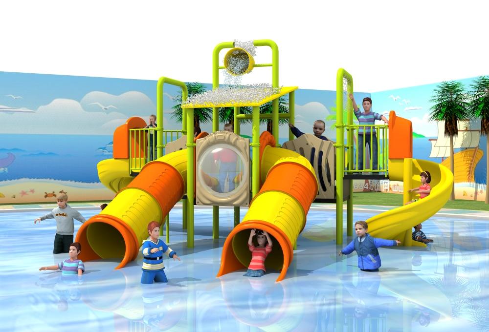 Water Playground Slide,summer Amusement Sports Field,water Games For Park