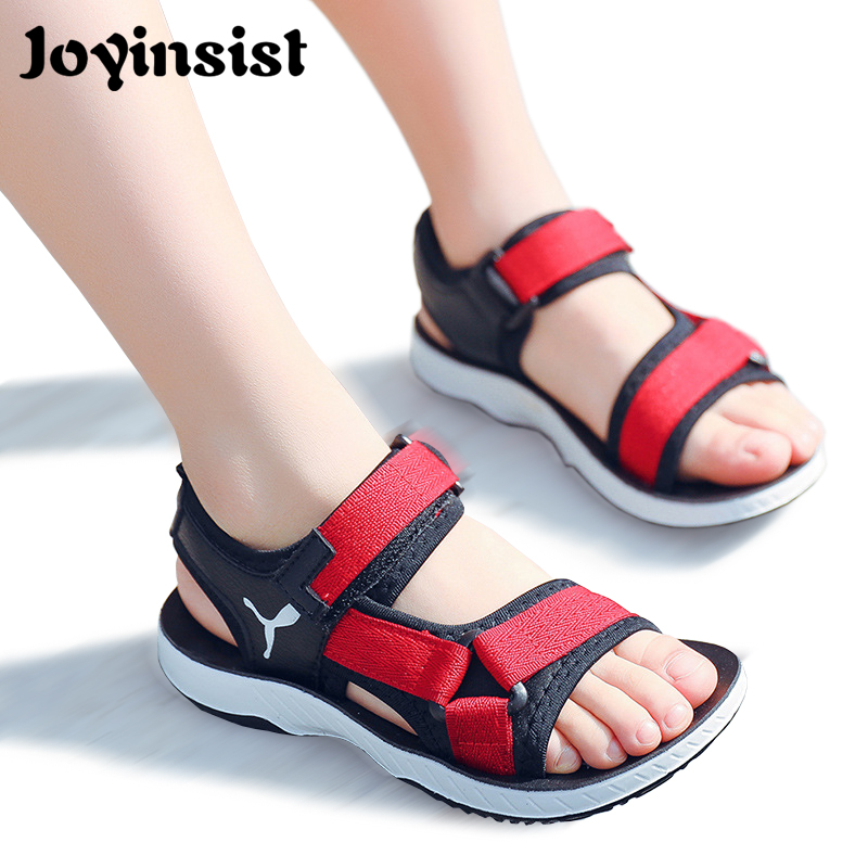 Boy Sandals 2018 New Childrens Beach Shoes Korean Non-slip Soft Sandals Middle Child Summer Kids Shoes ...