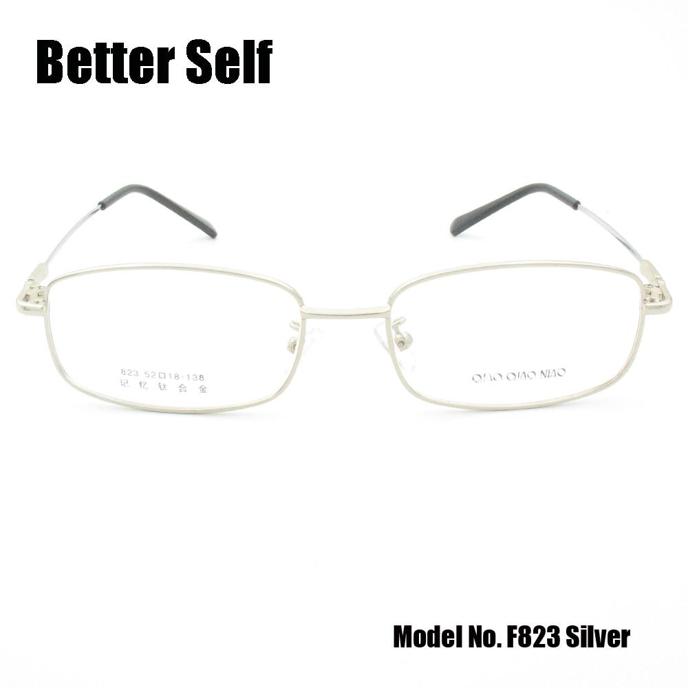 Celoobvodové brýle brýle s titanovým chrámem, brýle, které dokážou udělat krátkozraké brýle s kovovými optickými rámy, lepší vlastní F823