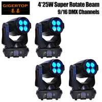 Wholesales Price 4 Units 4pcs*25W (100W)LED Super Beam+Wash Moving Head Light,LED Gobo Moving Head Beam Effect Disco Club Bar