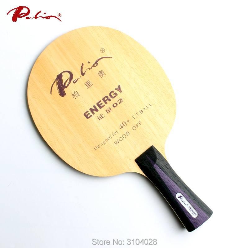 Palio officiell energi 02 bordtennisblad speciellt för 40+ nytt material bordtennis racket spelslinga och snabb attack 5ply wood
