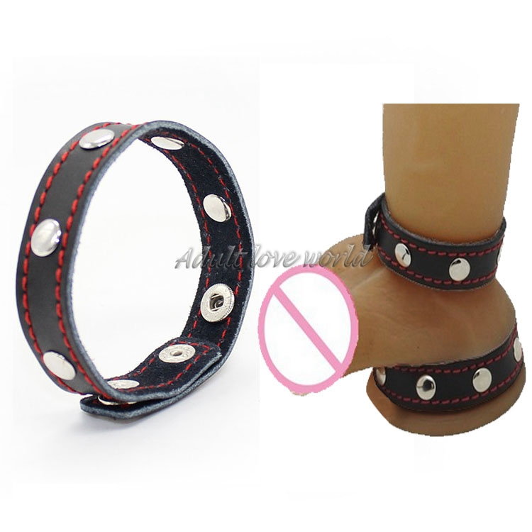 Sex Toys For Men Adult Games New product Adjustable Size PU Leather Cock Rings, Male Sex Toys Penis Rings Erotic Sex Products
