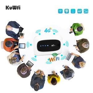 Image 5 - KuWFi 4G Wi Fi маршрутизатор 4G FDD/аппарат, который не привязан к оператору сотовой связи, маршрутизаторы LTE 150 Мбит/с карманный роутер Wifi мини Беспроводной маршрутизатор и Беспроводной модем с SIM/Слот для карты SD