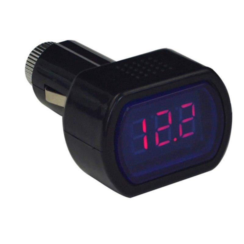 Portable Digital Monitor Car Volt Voltmeter Tester LCD Cigarette Lighter Voltage Panel Meter Hight Quality