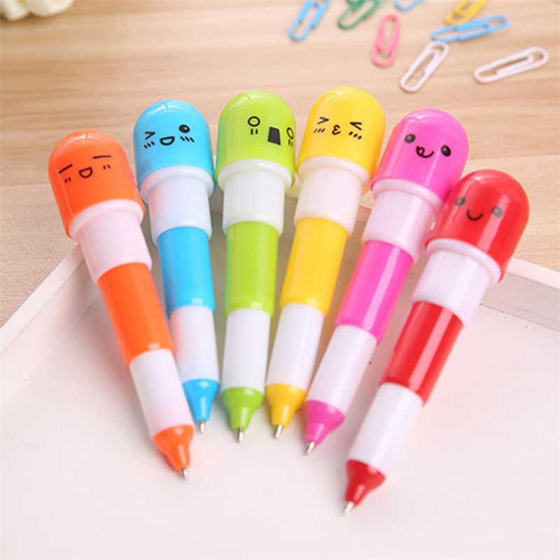 New Creative  Lovely Creative Pill Ballpoint Cute Pen Cute Learning Stationery Student Prize Wear-resistant hot Easy UseC0228 #011