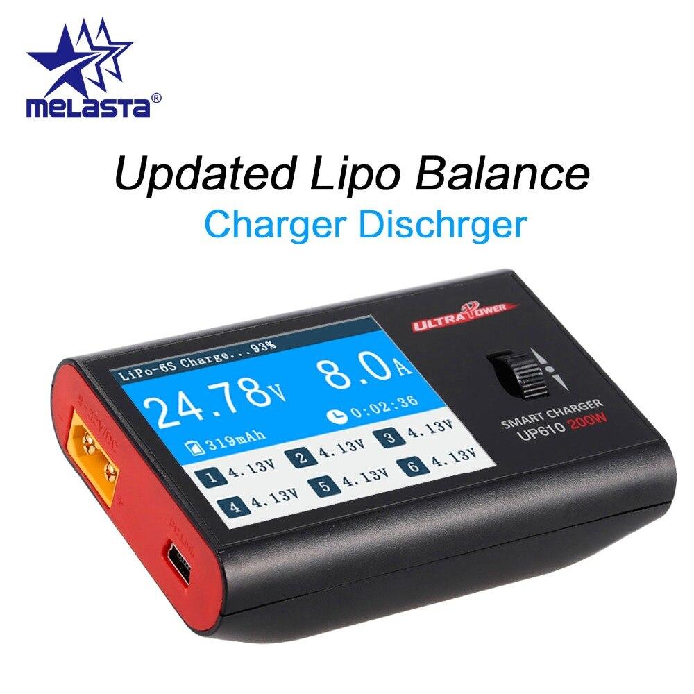 MELASTA UP610 200 Вт портативное умное зарядное устройство для радиоуправляемого дрона квадрокоптера автомобиль S 1-6 S Lipo батарея S 1-16 s Ni-MH NI-CD батаре...