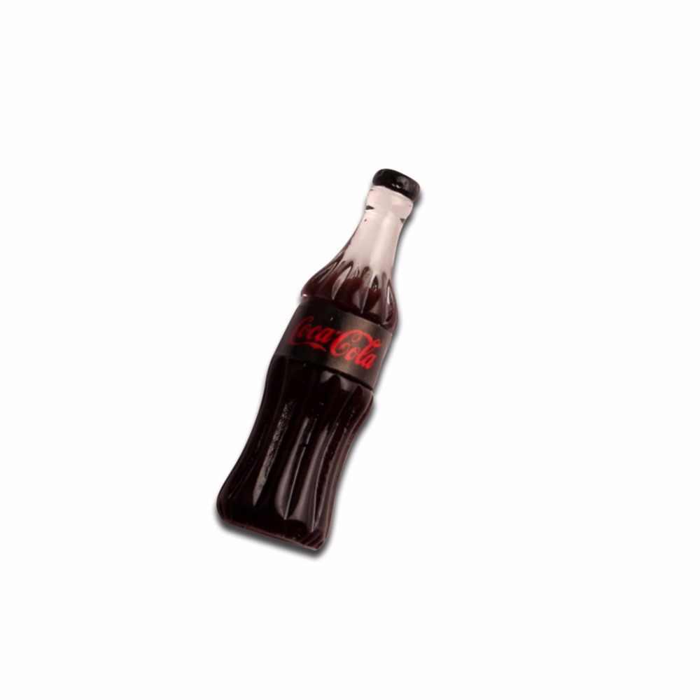 20 יחידות שרף קולה בקבוק קישוט מלאכות חמוד Kawaii חרוז Flatback קישוטי קבושון רעיונות DIY אביזרים