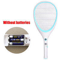 Dry battery Electric Fly Trap Mosquito Killers Pest Control Bug Zapper Reject Racket Trap Electric Shock Mosquito killing lamp