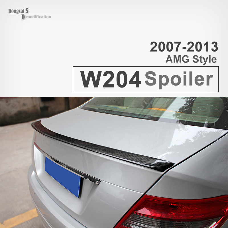 W204 AMG-Style Carbon Fiber Spoiler, Trunk Tail Rear Car Wing for Mercedes-Benz 2007-2013 C Class W204 AMG Spoiler 4-doorW204 AMG-Style Carbon Fiber Spoiler, Trunk Tail Rear Car Wing for Mercedes-Benz 2007-2013 C Class W204 AMG Spoiler 4-door