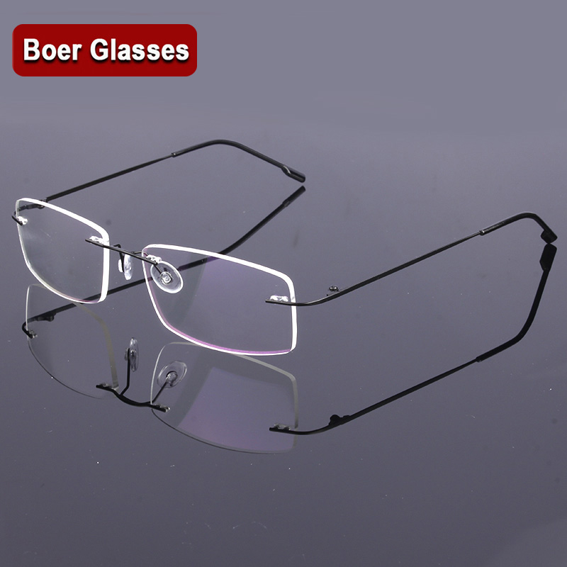 New lightest Men's  rimless stainless steel eyeglasses glasses RXable spectacle optical frame 763