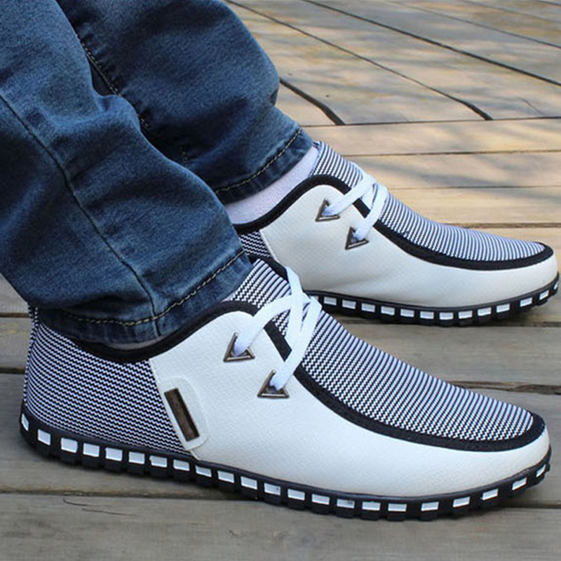 Summer Loafers Men Casual Shoes Fashion Slip On Sneakers Men Flats Driving Shoes PLUS SIZE 38-47 Trainers Zapatos Hombre Casual 4