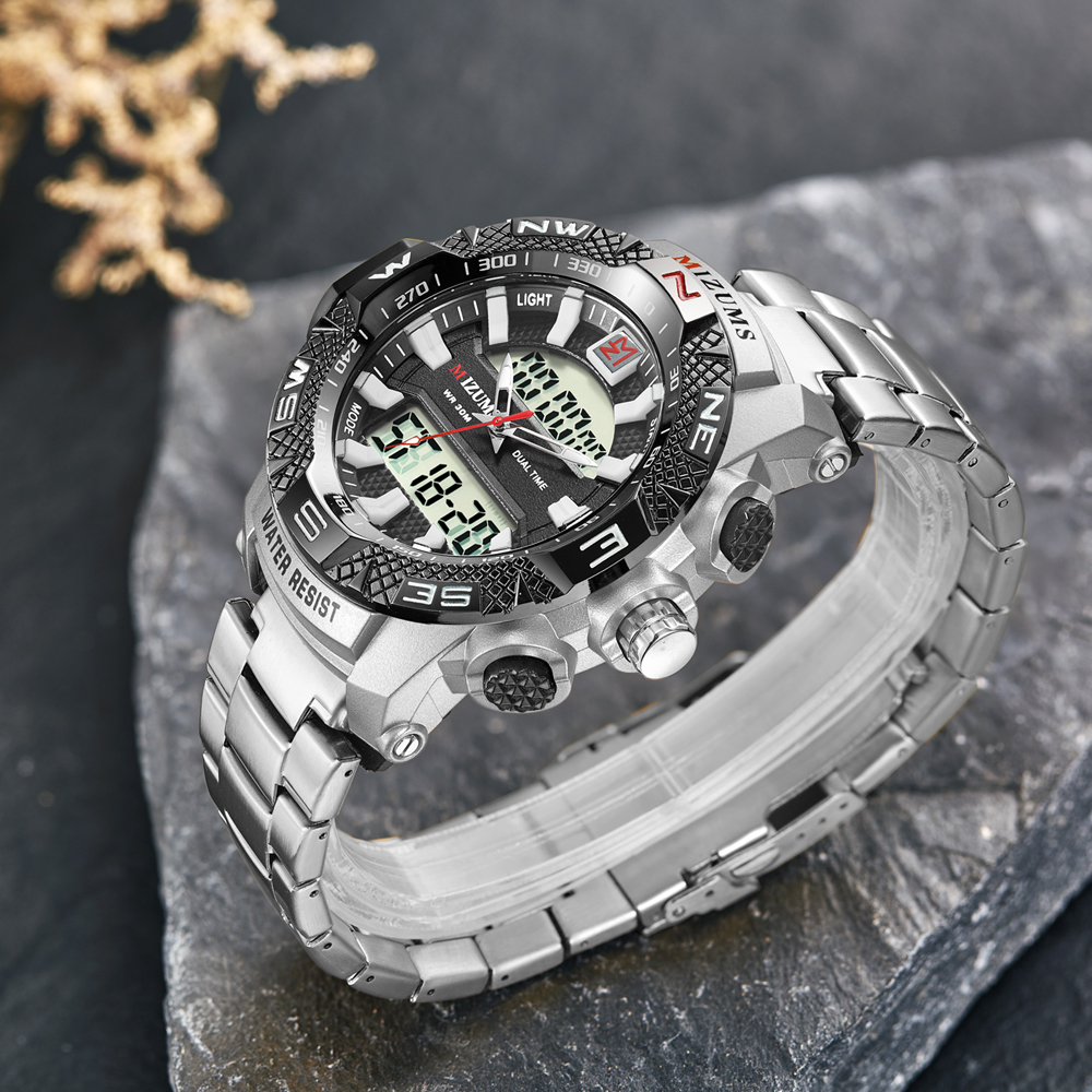 wholesale Military Watches Men Luxury Brand Full Steel Watch Sports Quartz Multi-function LED Waterpoof Gold Wristwatch Relogio Masculino 2019 drop shipping (27)