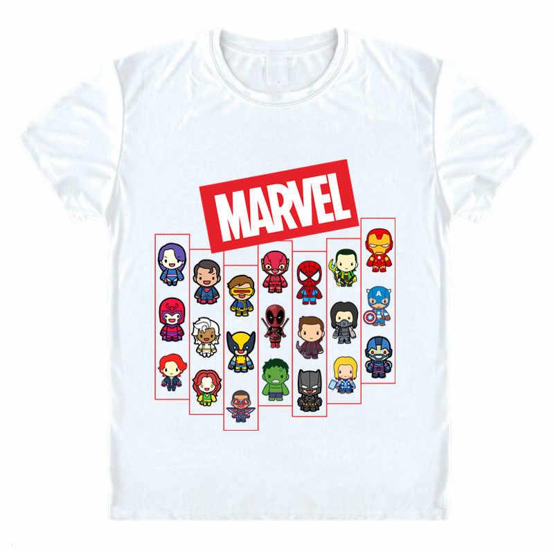 de7684630 Marvel T Shirt Avengers Super Hero Shirt Captain Marvel Legends Spiderman  Iron Man Comics Tee Fashion
