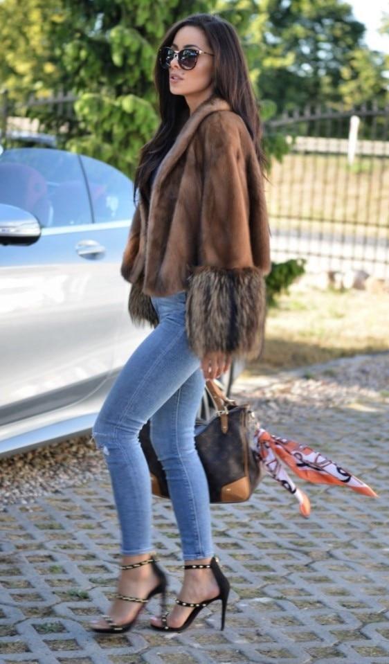 100 Vestes Mode Manteaux Manteau Chaud Laveur Avec Femmes Modèle Fourrure De Manches Naturel Les Raton Courtes Et Vison Super Hiver Pour Nouveau Camel Véritable tBxwnYqEOR