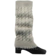 Женские зимние вязаные крючком Теплые высокий коленный сапог носки сутулятся гетры