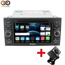Dadio 7.1.2 64-Bit CPU 2 GB de RAM Android de DVD Del Coche Para Ford Fiesta Focus C-MAX S-MAX Kuga Galaxy Tránsito Jefe Unidad de 4G WiFi GPS DVR