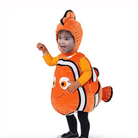 Child New Clown Fish Nemo Costume Child Marine Animal Costumes Kids Ocean Fish Halloween Party Costume