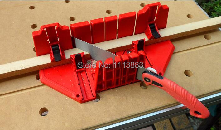 Купить с кэшбэком Clamping Miter Box With 22.5, 45 and 90 degree guiding slot Woodworking Tool