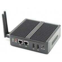 Topton промышленный мини-ПК Windows 10 Pfsense AES-NI Intel N3160/J3160 безвентиляторный мини-компьютер без корпуса 2 * Lan 2 * HDMI TV Box VESA