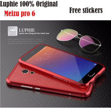 Luphie original case Meizu pro 6 bumper  aluminum metal frame armor border for Meizu Pro6 stock with free stickers