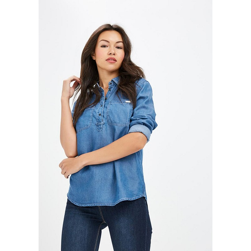 Blouses & Shirts MODIS M182D00022 blouse shirt clothes apparel for female for woman TmallFS plus collar knot blouses