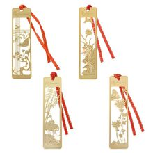 Красивый в китайском ретро-стиле полый металлический Закладка традиционный зажим для записок-напоминаний бумажные закладки студенческие школьные канцелярские принадлежности