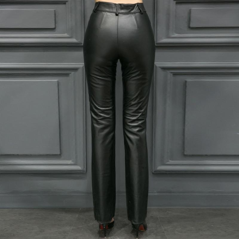 Qualité Longueur Femmes Taille Black Véritable Maigre Bureau Haute Cuir Crayon Plus Femme La Pantalon Pleine Top Sexy Lady En 5xl S qIcHTwF