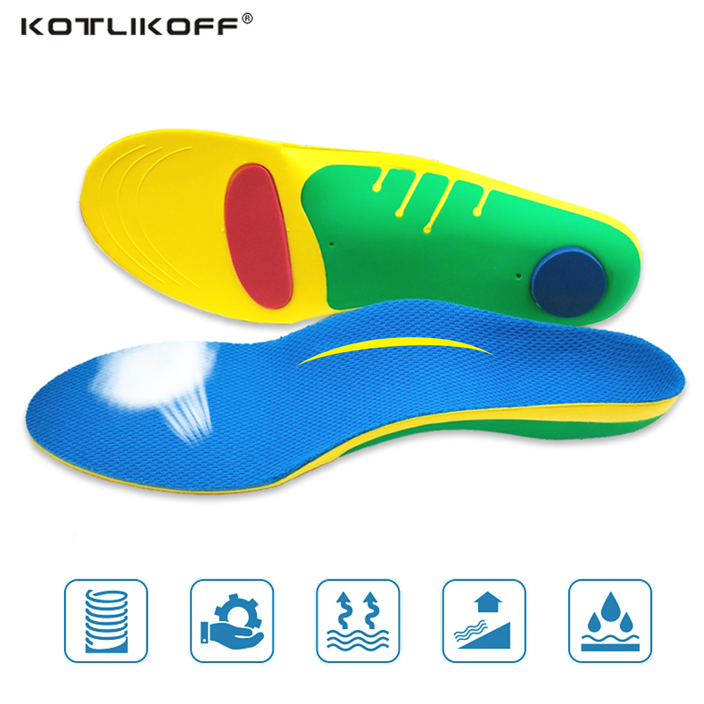 KOTLIKOFF flat foot orthotic insoles arch support inserts orthopedic Plantar fasciitis relieve shock absorption for man&women