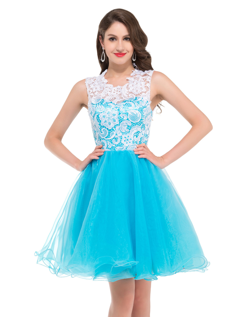 Popular Blue and Pink Lace Gowns-Buy Cheap Blue and Pink Lace ...