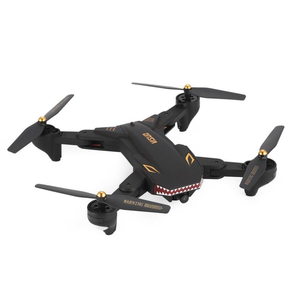 VISUO XS809S RC Drone WiFi FPV Grand Angle 720 p Caméra Maintien D'altitude Pliable Sans Tête Mode Un Retour Key Quadcopter
